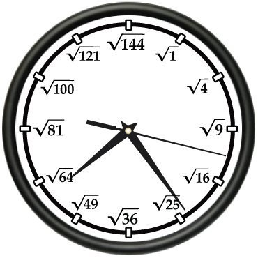 SQUARE ROOT Wall Clock math teacher calculator new gift by Clock Zone @Melissa Barkley B.