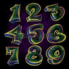 Image result for numeros en graffiti   Numbers64 ...