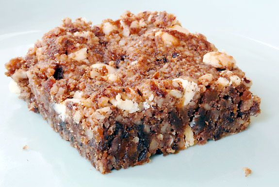 #paleo Apricot Power Bars: 1 cup dried apricots; 2 cups pecans; 2 eggs; ¼ teaspoon celtic sea salt; 1 tablespoon vanilla extract; ½ cup chocolate chips of your choice (Enjoy Life brand)