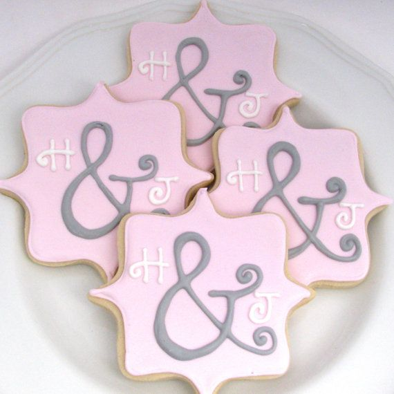 Personalized Bridal Shower Cookies Also Great For A Wedding Reception
