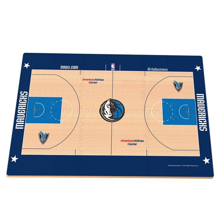 Dallas Mavericks Replica Basketball Court Foam Puzzle Floor, Grey