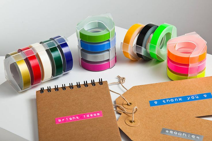 retro embossing label maker refill tape by oh my | notonthehighstreet.com