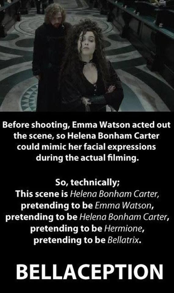 """Bellaception!  (Let's just be clear and point out that by """"bella"""" we mean Bellatrix, not Bella Swan"""