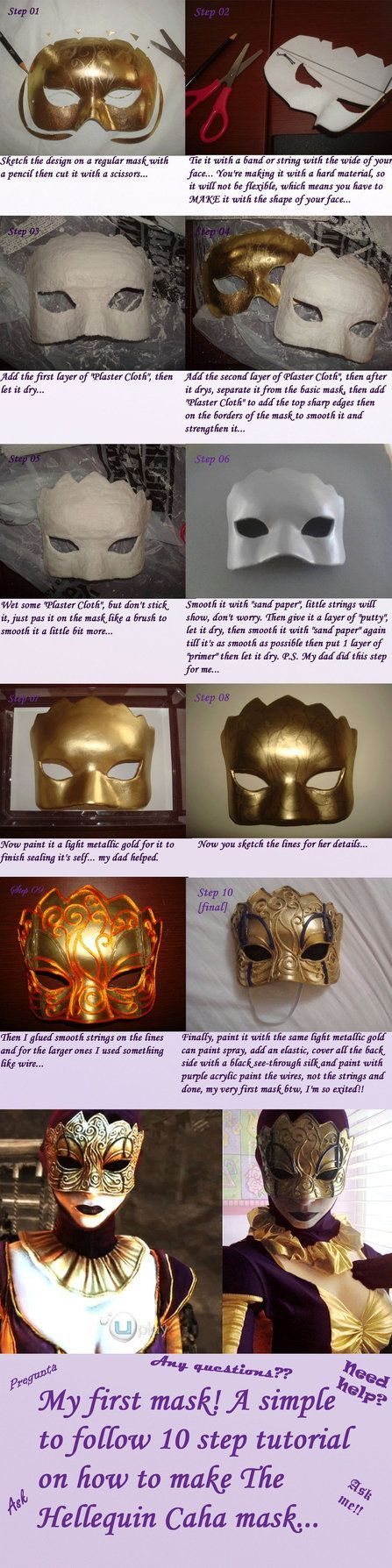 The Hellequin (Caha) mask tutorial by ~Josumi-kun on deviantART: