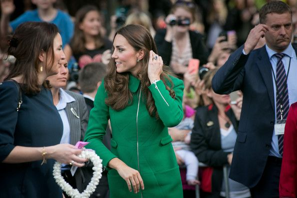 Catherine, Duchess of Cambridge arrives at the Cambridge Town Hall on April 12, 2014