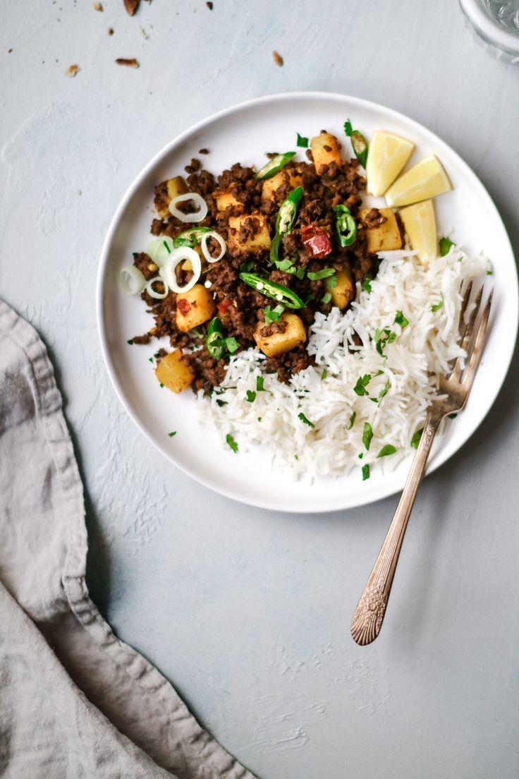 Pakistani Aloo Keema Ground Beef And Potato Curry Recipe Ground Beef And Potatoes Beef And Potatoes Potato Curry