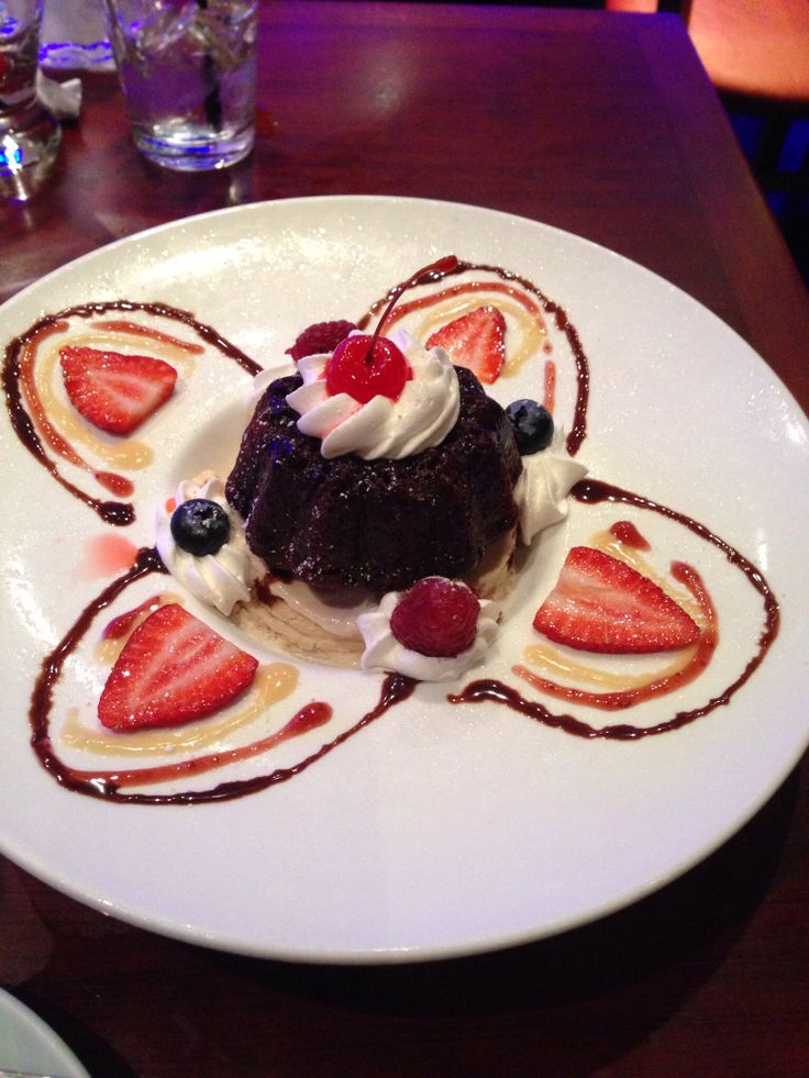 Chocolate mountain over cinnamon ice cream.  Blue Fish Houston, TX