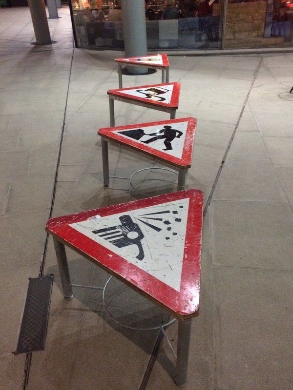 Traffic signs as tables.