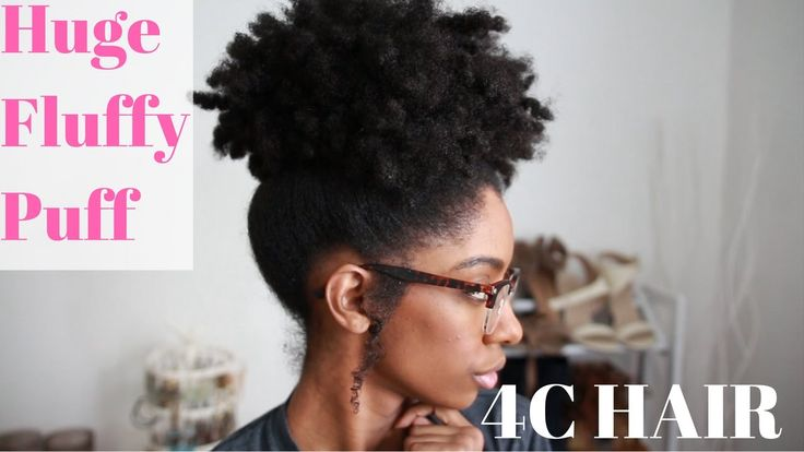 Huge Fluffy Puff On Medium 4C Natural Hair | How-To Tutorial [Video]  Read the article here - http://blackhairinformation.com/video-gallery/huge-fluffy-puff-medium-4c-natural-hair-tutorial-video/