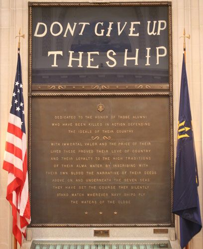 Don't give up the Ship, Annapolis, United States Naval Academy