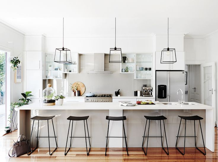 Black Accents And Plants In The Kitchen. Part 82