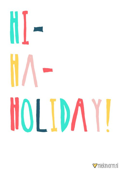 Hi-ha-holiday! || Made by www.miekinvorm.nl || illustration + design