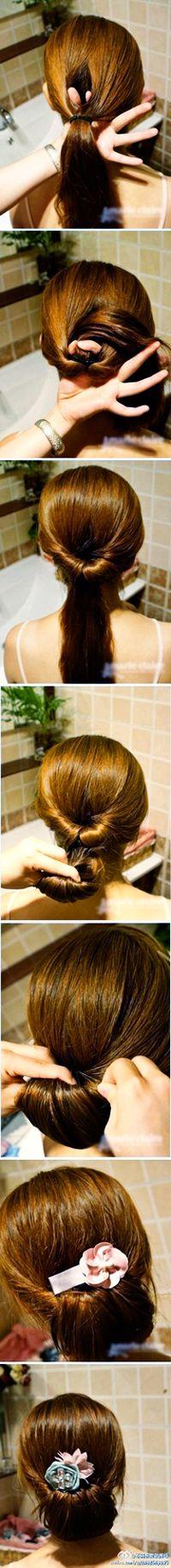 How to make a twisted side bun