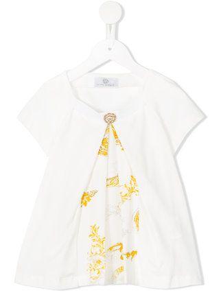 Young Versace T-Shirt mit Barock-Print