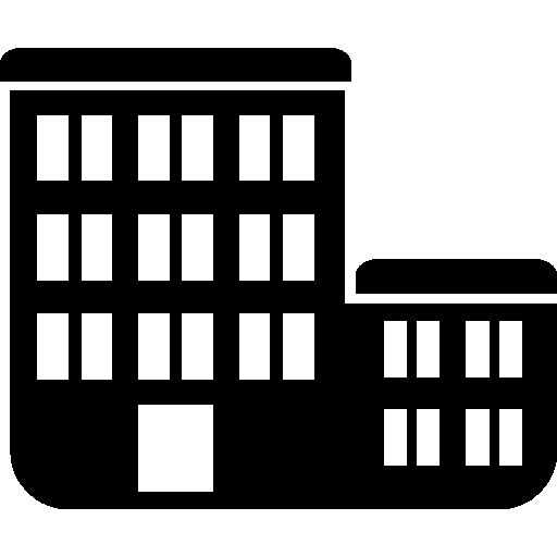 Building pair silhouette I Free Icon