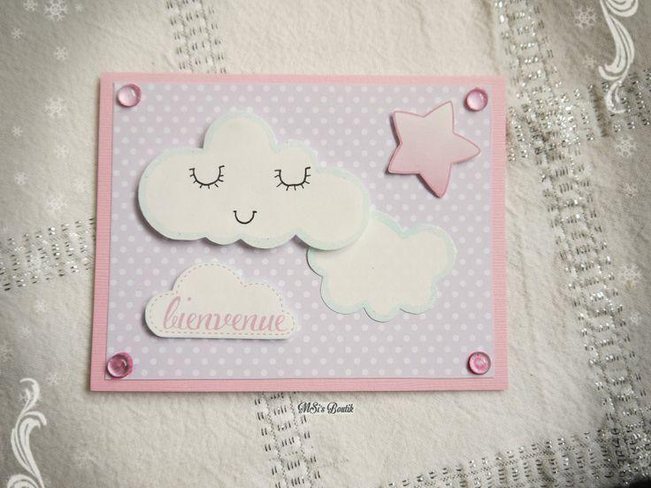 Carte de Voeux pour naissance fille, inspiration Pinterest :) By MSi's Boutik