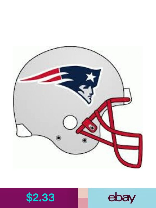 This Picture Of A Football Helmet Worn By The New England Patriots