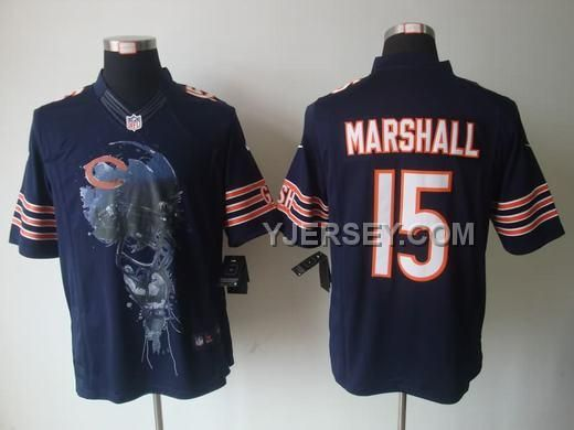 FOR SALE NIKE BEARS 15 MARSHALL BLUE HELMET TRI-BLEND LIMITED JERSEYS, Only$36.00 , Free Shipping! http://www.yjersey.com/for-sale-nike-bears-15-marshall-blue-helmet-triblend-limited-jerseys.html