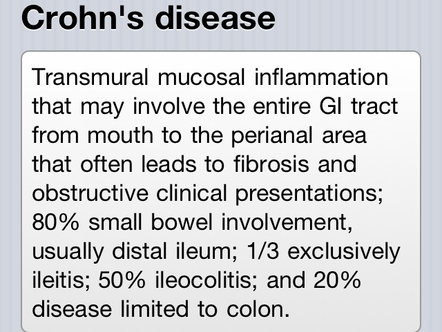 a study of crohns disease Vienna — people with crohn's disease could be one step closer to an individualized approach to tumor necrosis factor inhibitor therapy, thanks to the personalised anti-tnf therapy in crohn's disease (pants) study ( nct03088449) interim 54-week data from the trial show that older age, a higher body.
