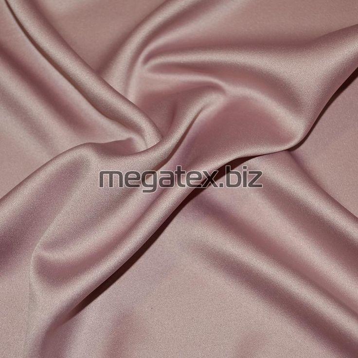 шелк японский стрейч однотонн. розово-серый - 15614