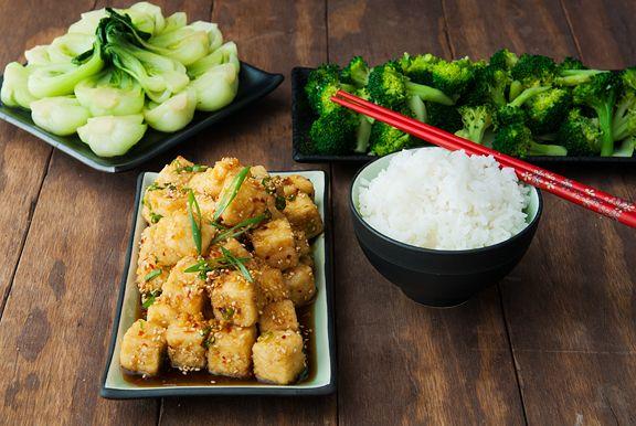 sesame tofu recipe | use real butter | Recipes-Savory | Pinterest