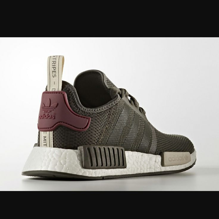 The adidas NMD will be back for don't worry. Here we get another olive  green colorway on the model featuring a maroon heel.