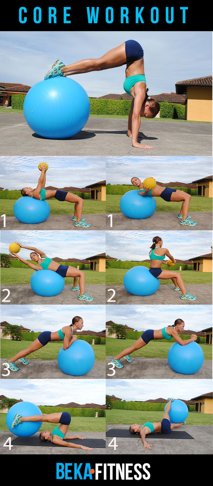 Swiss Ball Core Workout--I can totally see myself doing that handstand. #fitness http://slimmingtipsblog.com/how-to-lose-weight-fast/