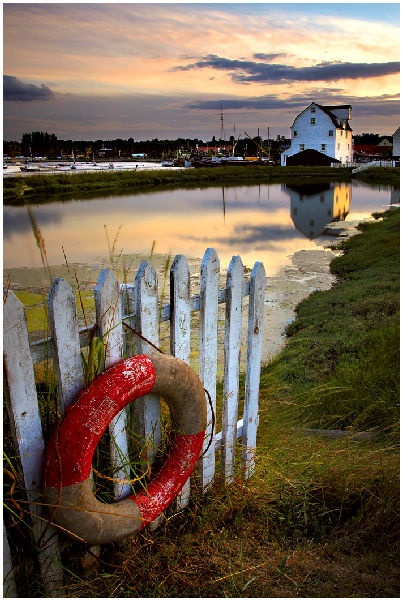 Down by the river in our home town of Woodbridge - The Tide Mill on the Deben.