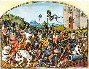 Français 5054, fol. 229v, Bataille de Castillon 1453.jpg