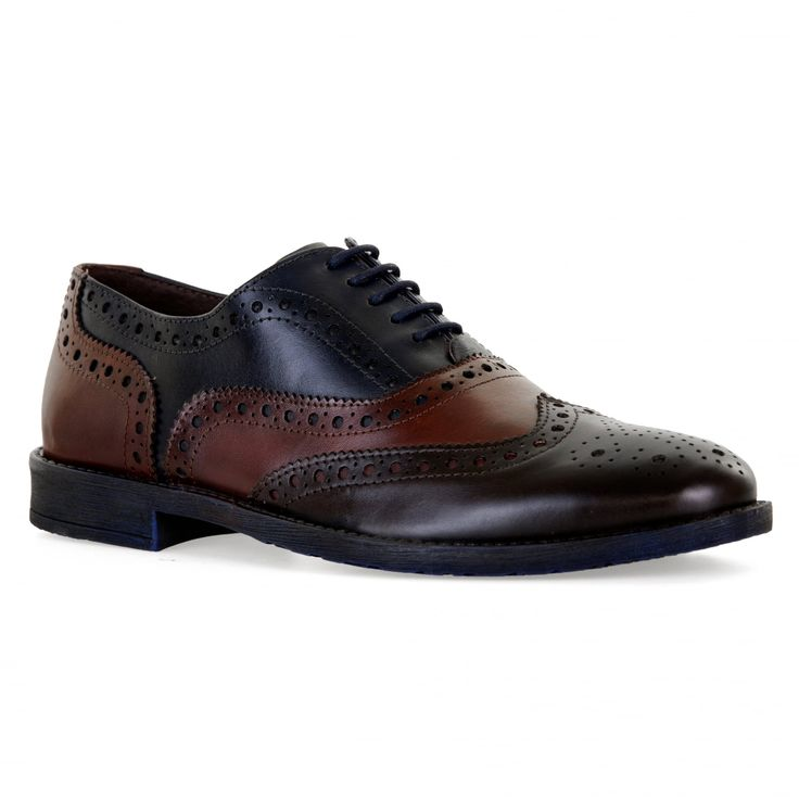 Paolo Vandini Mens Scottie Brogue Shoes (Dark Brown) - Mens from Loofes UK