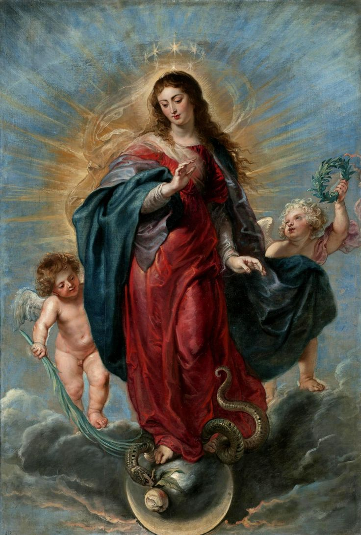 "spanishbaroqueart: "" RUBENS IN SPAIN Peter Paul Rubens The Immaculate Conception, 1628-29 Museo del Prado, Madrid, Spain "" This painting was made in 1628, when Rubens was in Spain. It reflects the characteristics of his mature style, combining the..."