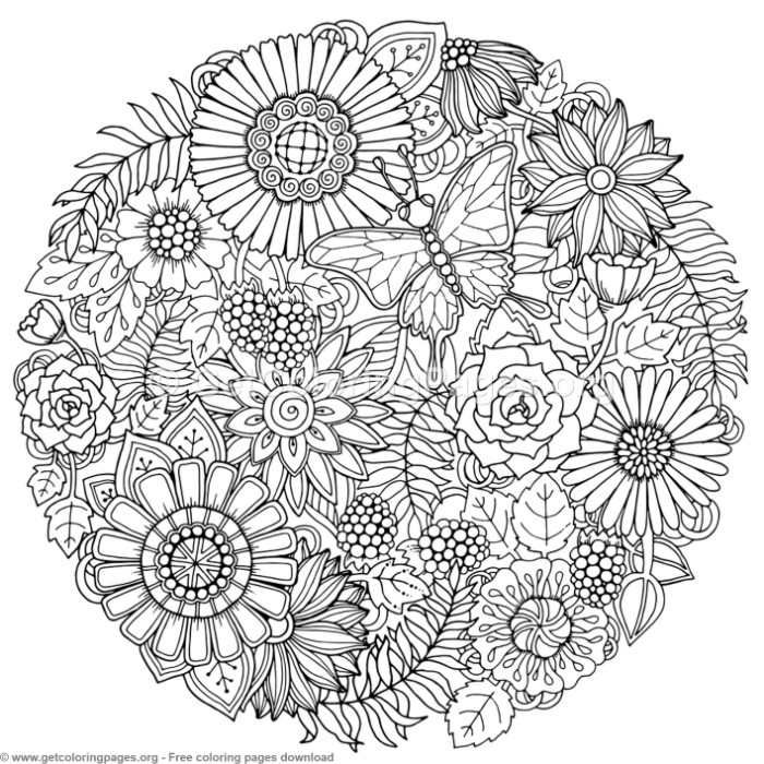 3 Zentangle Round Mandala Coloring Pages Getcoloringpages Org Free Instant Downloads Coloring Colo Flower Doodles Hand Art Drawing Mandala Coloring Pages