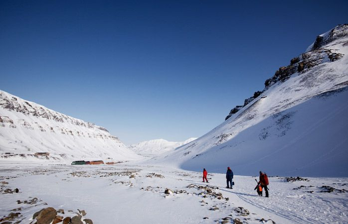 Look out for polar bears as you hike through the vast wild area surrounding Longyearbyen