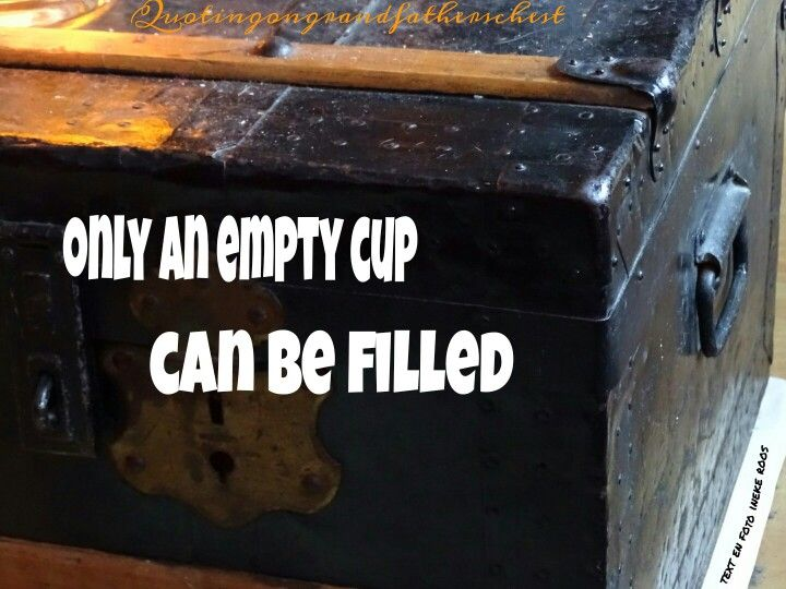 Only an empty cup...