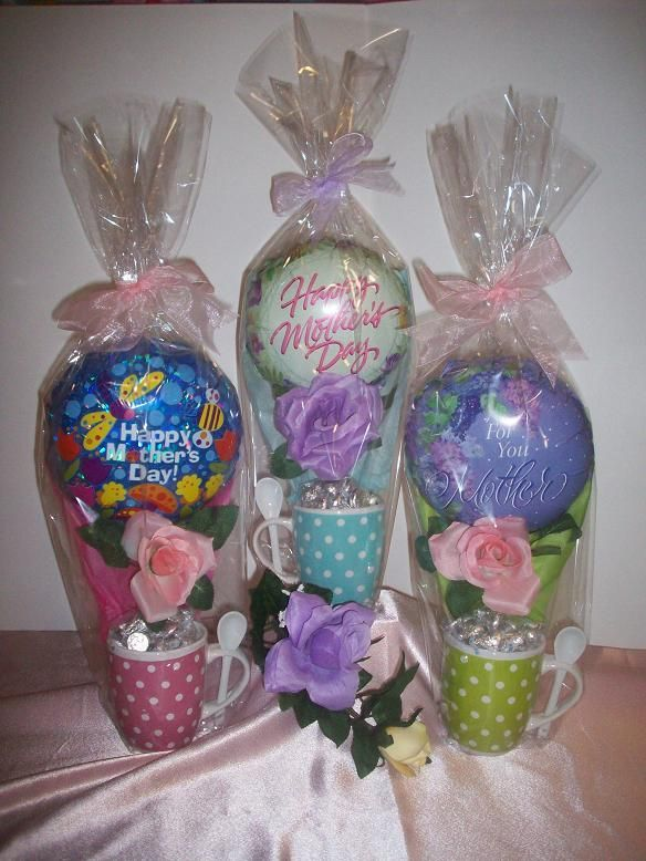 DIY CANDY ARRANGEMENTS FOR MOTHER'S DAY | with assorted candy, decorated with a silk rose and 9 inch Mothers day ...