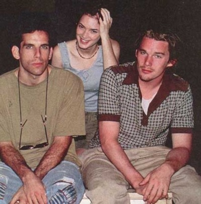 ben stiller, winona ryder, and ethan hawke