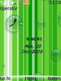 Swf Green Bubbles Mobile Theme