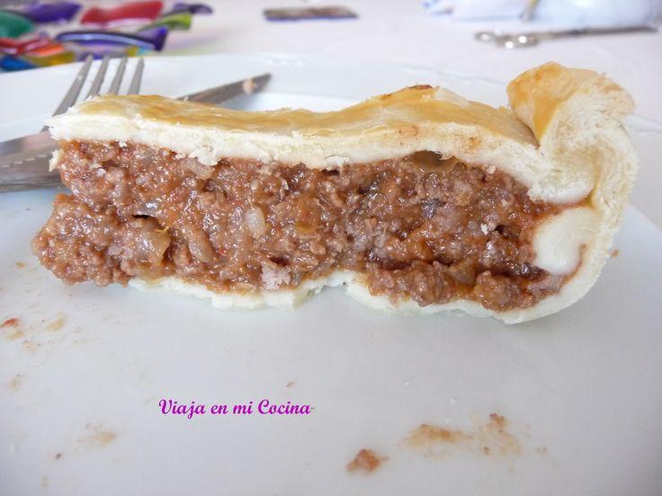 Corte de Pastel de Carne Australiano