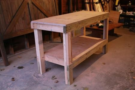 Do it yourself garage workbench plans woodworking for Do it yourself garage plans