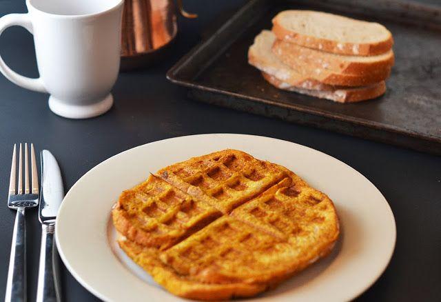 {Pumpkin French Toast Waffles}