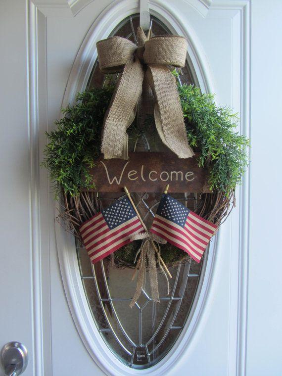 4th of july head wreath