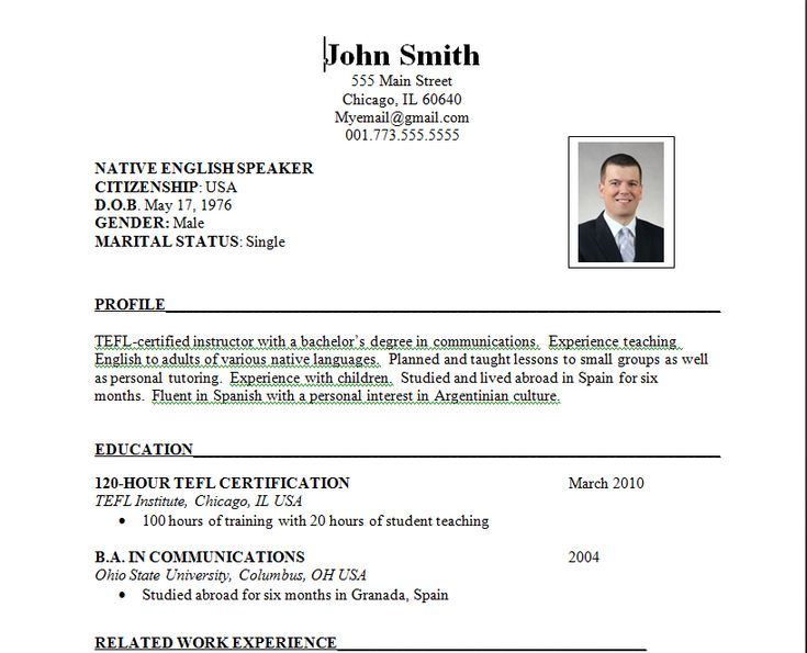 Best 25+ Job resume format ideas on Pinterest Cv format for job - example of resume for applying job