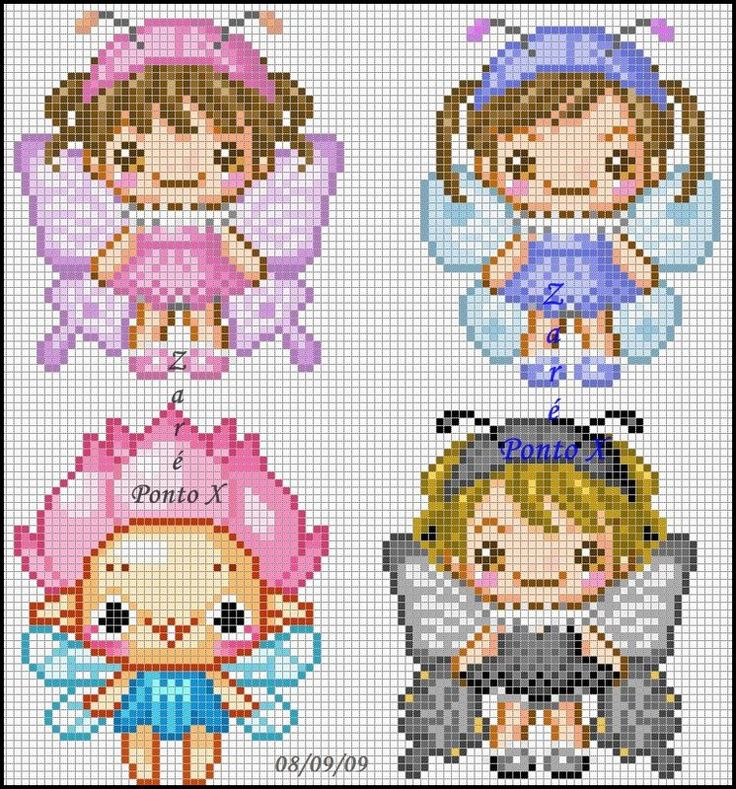 Fairies perler bead pattern