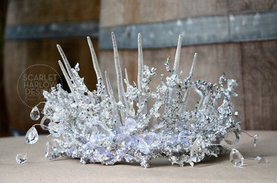 MADE TO ORDER Adult Snow Queen Crown  Frozen  door ScarletHarlow