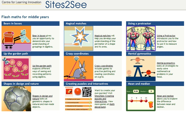 Sites2See: Flash maths for middle years – great on #DERNSW laptops: http://ow.ly/bcVfS