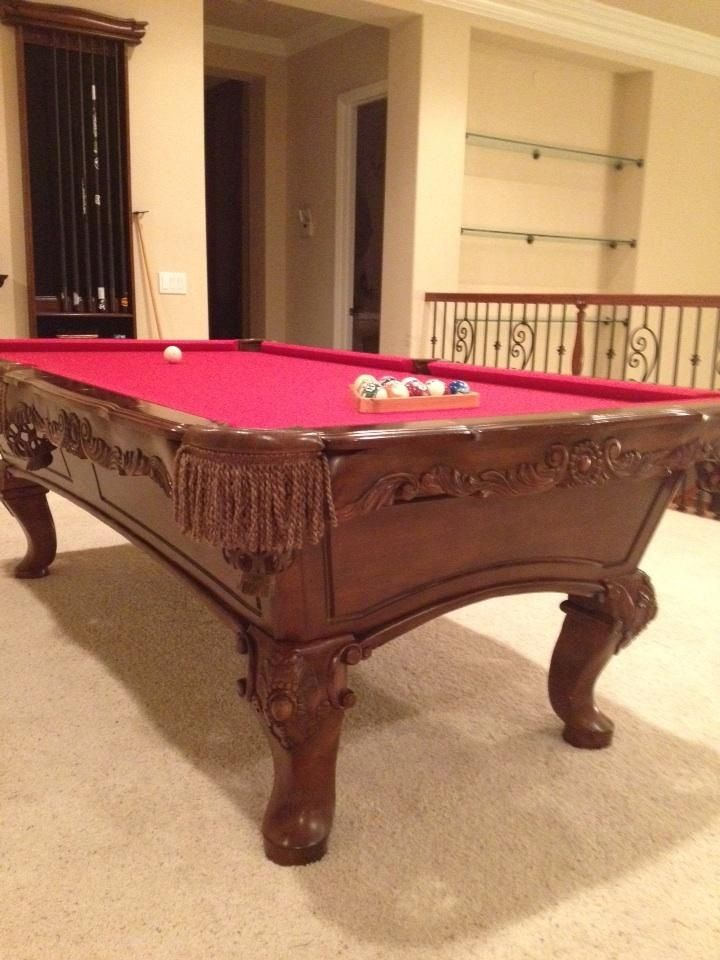 Custom Pooltable Refelted With Simonis RED Felt @DLCBilliards DLC DLC