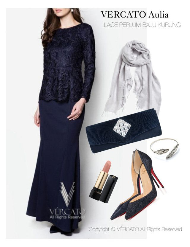 """VERCATO Aulia Baju Kurung Moden"" in navy blue  and also available in mint green. SHOP NOW: http://www.vercato.com"