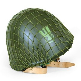 Warsaw Pact Polish Navy/Army Helmet. Steel helmet used by infantry soldiers until Poland joined NATO. Built in 50's and '60s equipped with leather adjustable head support. They have a screw at the top of the helmet and rivets on either side fastening the bale to the inside of the helmet. Shades of green and may have the eagle emblem on the front. The inside adjustable head support is leather in the center with an outer circle of nylon. Come with a mesh net, in new condition…
