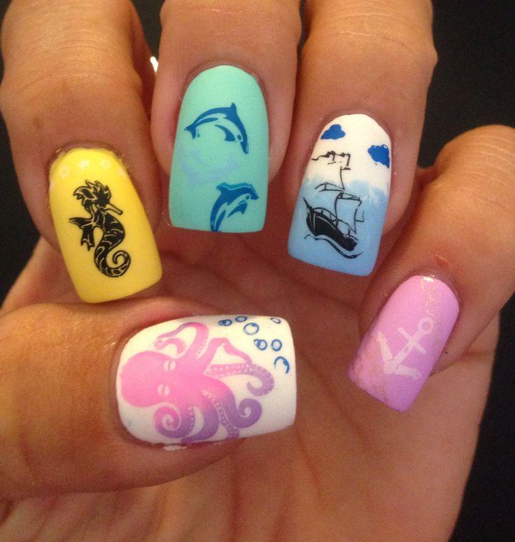 Sea Turtle Nail Art: 20 Best Turtle Nails Images On Pinterest