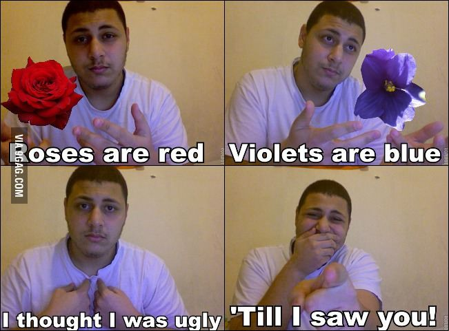 9GAG - Roses are red, violets are blue..